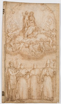 Madonna and Child with Four Saints (recto); Pietà (verso)