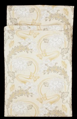 Fabric Printed with Art Nouveau Pattern