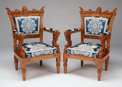 Armchair from a pair of armchairs