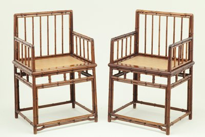 Pair of Low Back Armchairs