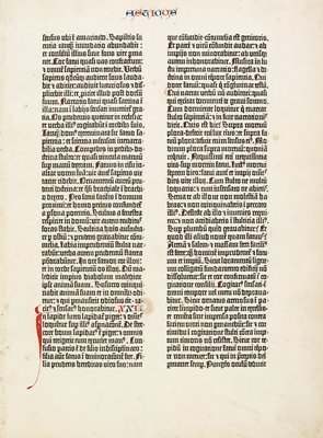 Gutenberg Bible Leaf (Book of Sirach)