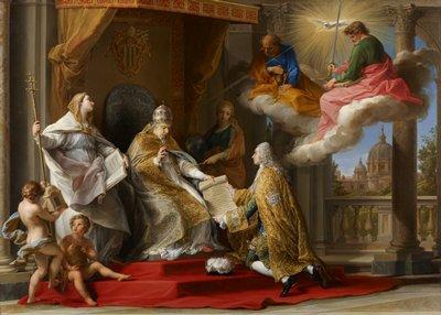 1756 - Benedict XIV Presenting Ex Omnibus to Choiseul.