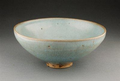Chun Ware Bowl, porcelaneous stoneware with blue glaze