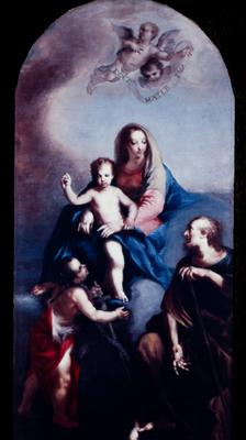 The Holy Family Infant Christ Virgin Mary Joseph St. John