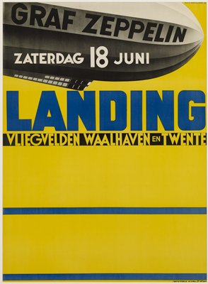 Advertisement for the forthcoming landing of the Graf-Spee dirigible at Waalhaven.