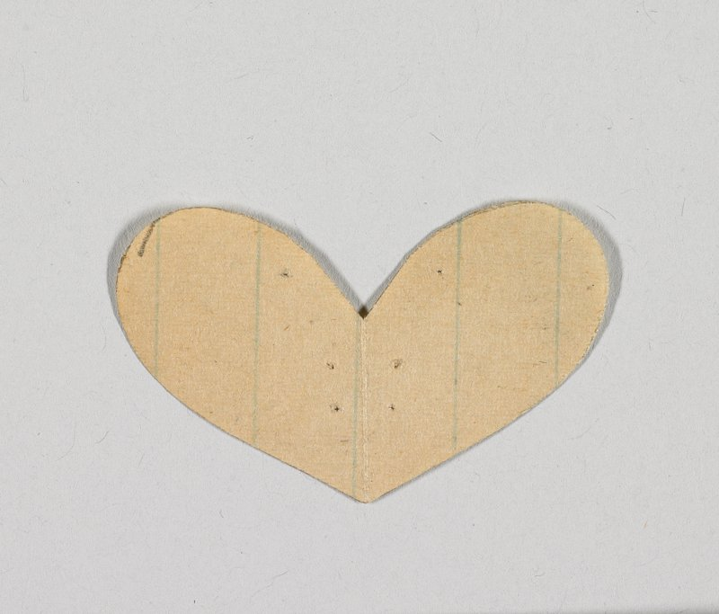 heart shape; ruled paper