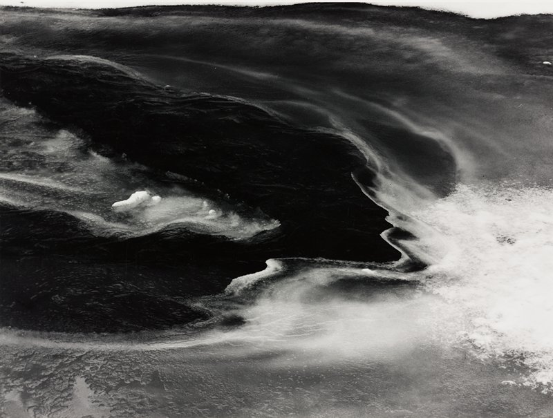 abstract image; ice on water