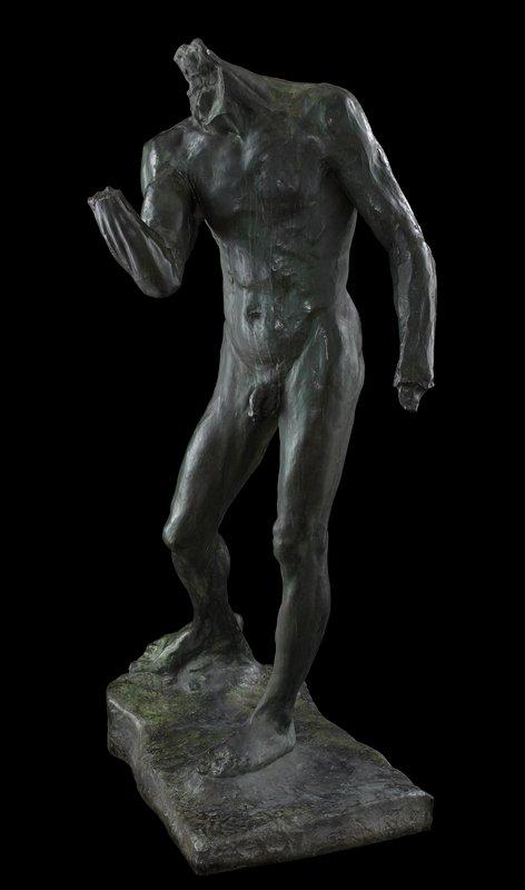 study for the figure of Pierre de Wiessant; cast in the Alexis Rudier foundry, Paris  Figure