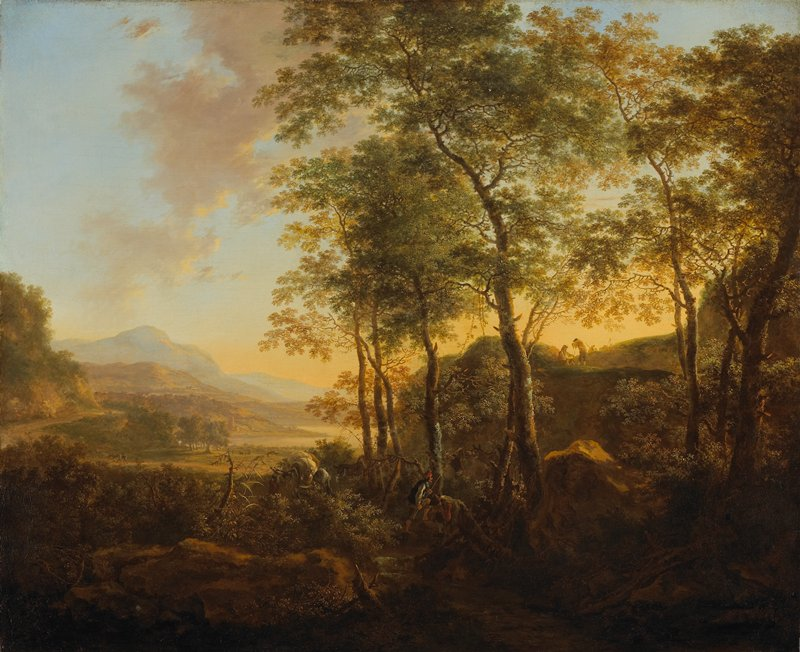 Landscape with figures.