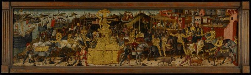 cassone panels; Triumph of Scipio Africanus Major