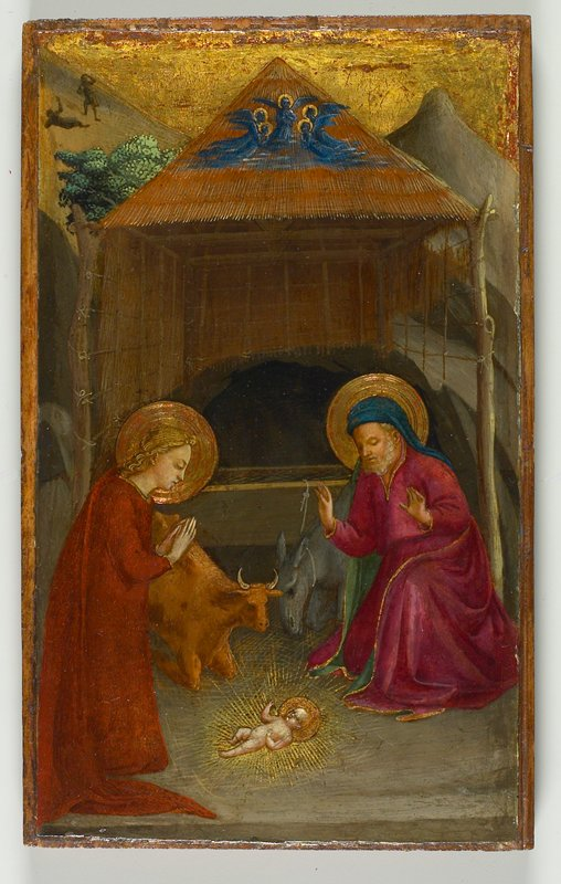 Mary, Joseph, and the newborn Christ (Nativity)