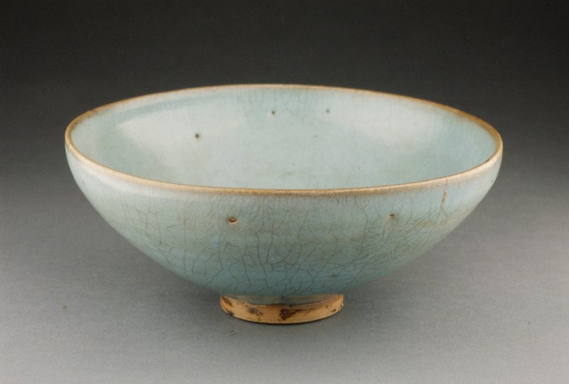 Chun Ware Bowl, porcelaneous stoneware with blue glaze