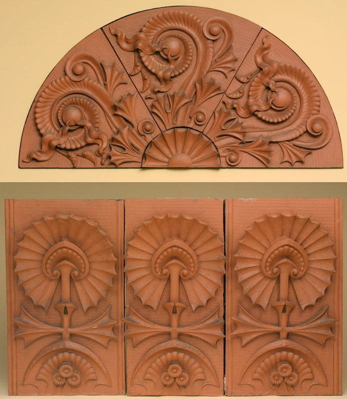spandrel, tympanum and decorative panels from the Scoville Building, Chicago