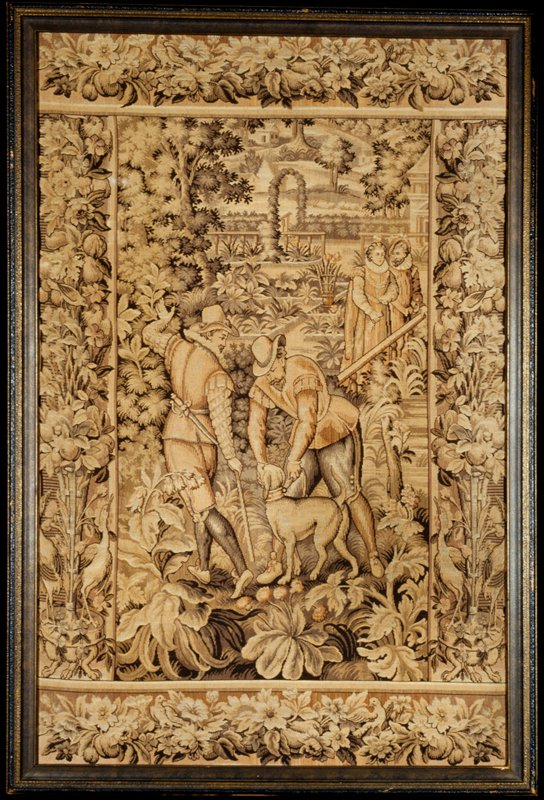 tapestry, cotton, jacquard woven