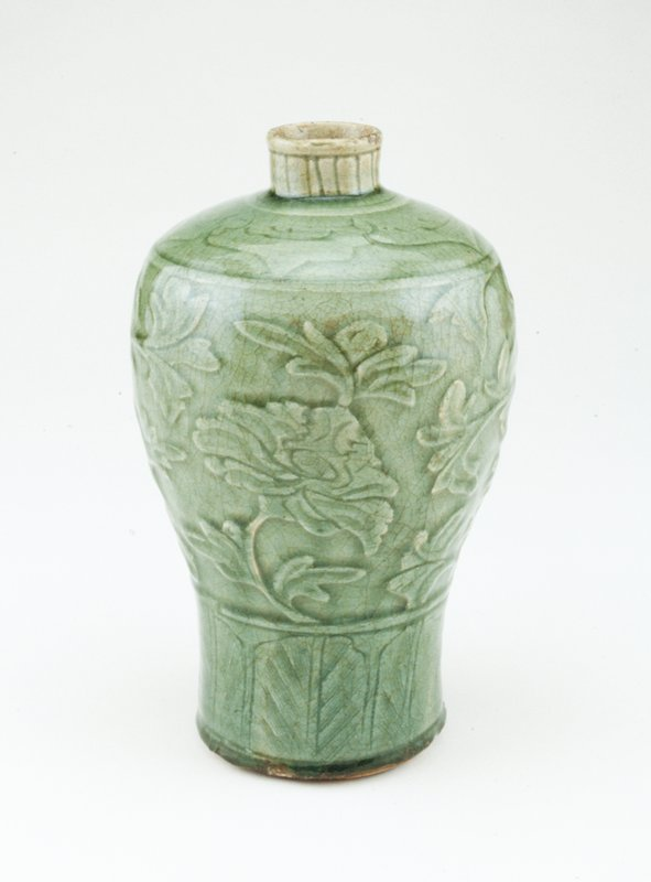 Celadon Meiping, ceramic, Ming
