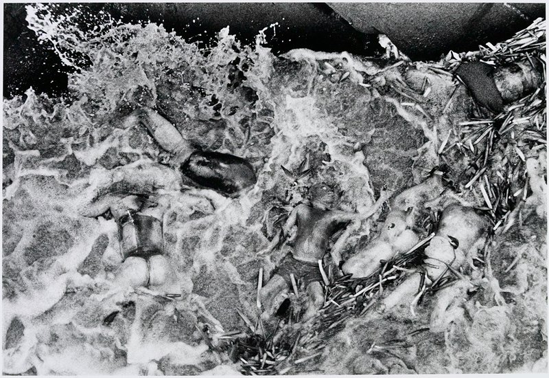 bodies and driftwood in water