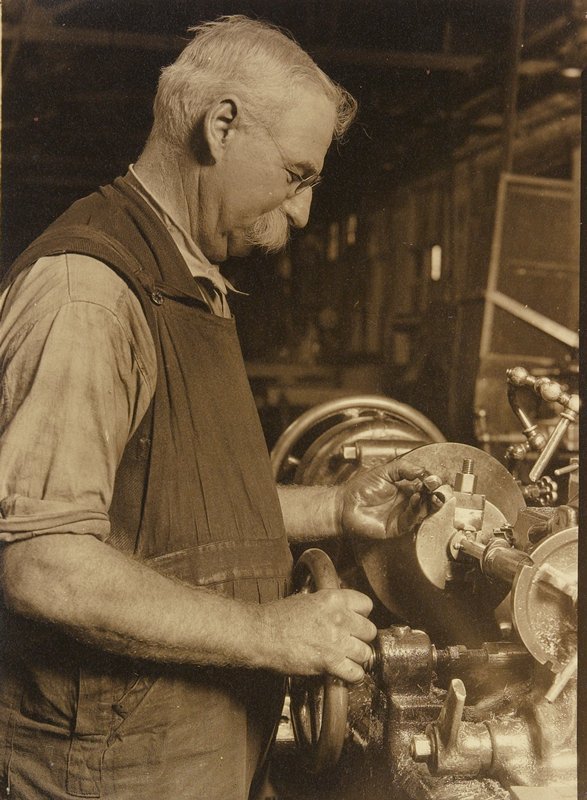 worker at lathe