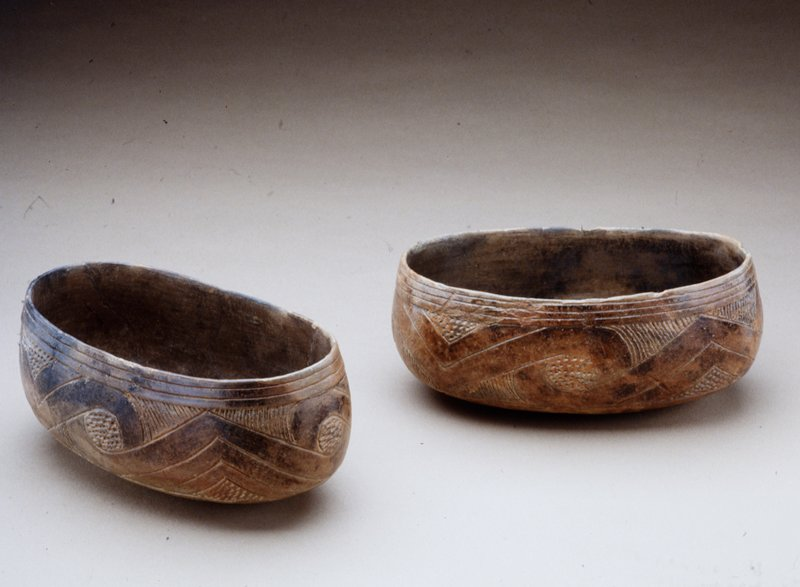 Crenshaw Canoe Bowl, earthenware, North American, Mississippian Culture,XII-XVc; (found at Stokes Place, Pike county, Arkansas)