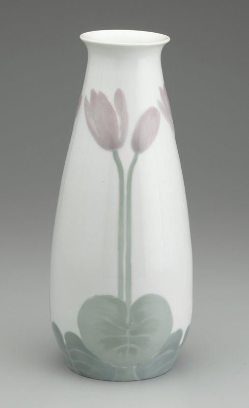 68fb0e1cb9e Reticulated vase form with design of Easter lilies