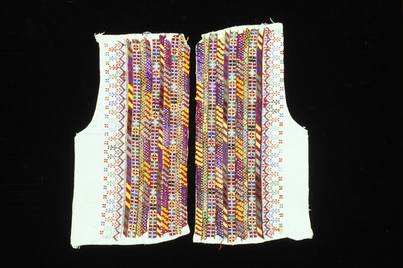 embroidered panels for vest front