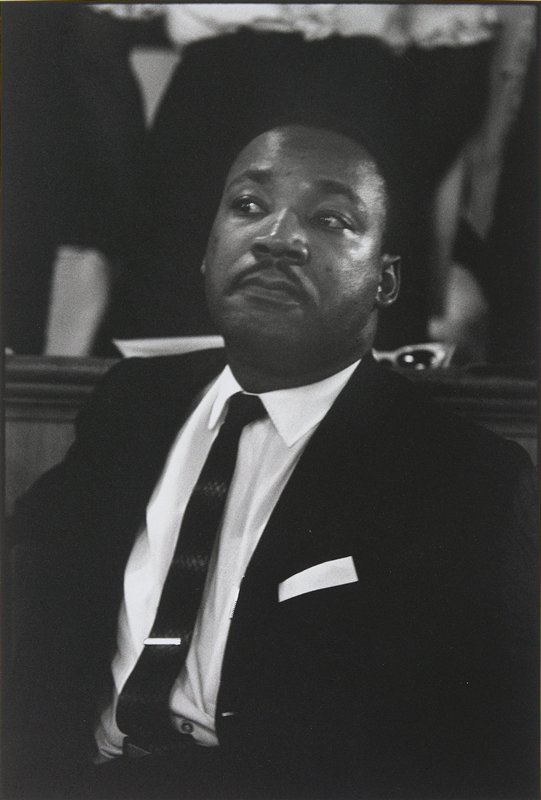 somber-faced portrait of Martin Luther King