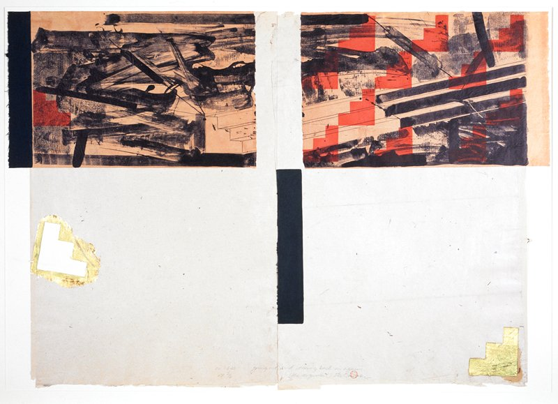 Diptych / From a suite of three prints.