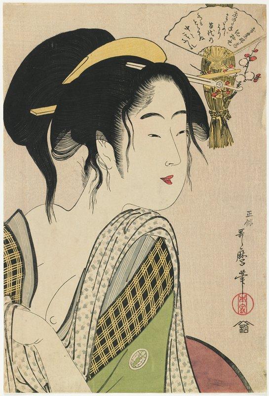 喜多川歌麿『寄農婦恋』