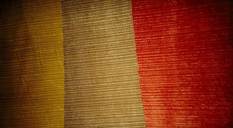 Plain pile weave. Striped velvet, achieved by a finishing process. Plain pile weave. Striped velvet, achieved by a finishing process. Cane