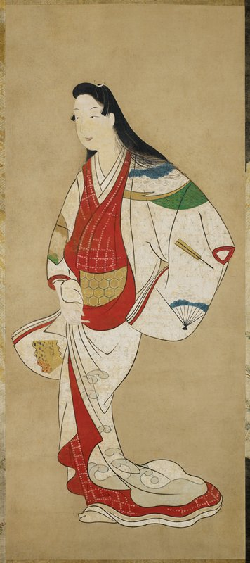 gold leaf on obi and outer robe