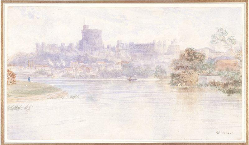 View of the city of Windsor (Berkshire) from the river Thames