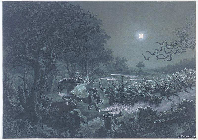 Illustration for Gottfried Burger's ballad, 'Lenore'