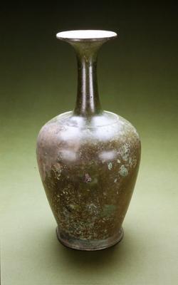 Urn-shaped, slender neck; no decoration, rim diam. 3-3/16 in.